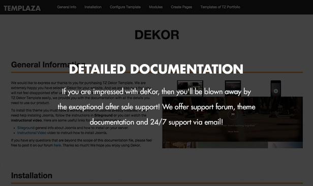 deKor - Responsive Interior Joomla Template