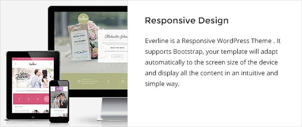 WordPress theme Everline - Wedding WordPress Theme (Wedding)