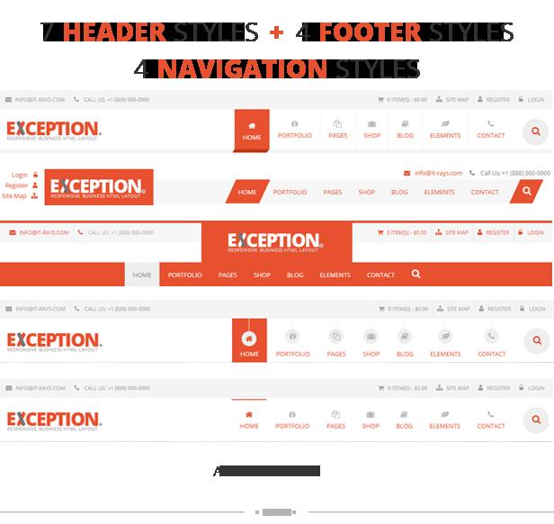 EXCEPTION - Responsive Business Joomla Template