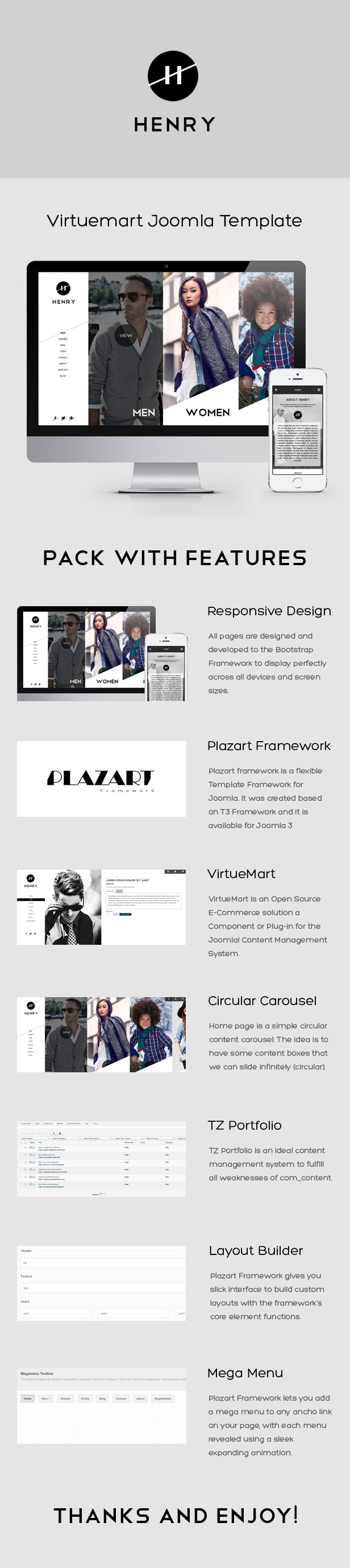 Henry - VirtueMart Joomla Template