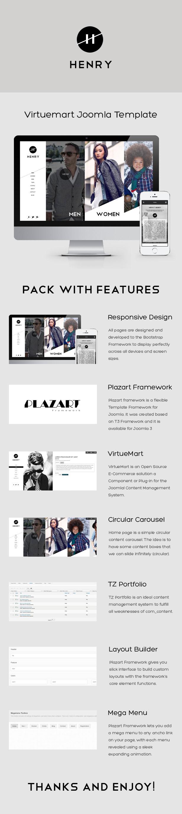 Henry - VirtueMart Joomla Template - 2