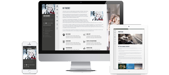 WordPress theme Profiler - vCard - Responsive (Personal)