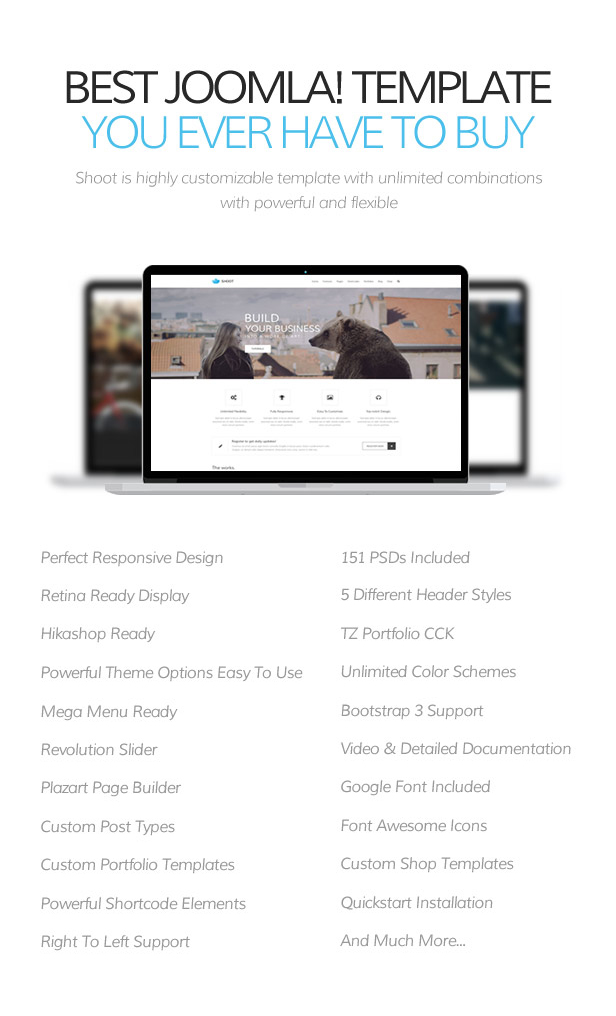 Shoot - MultiPurpose Joomla Template