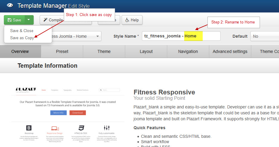 Fitness Template - Documentation 1 0