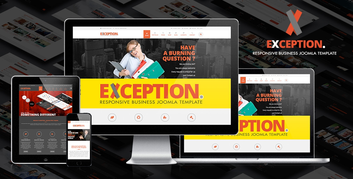exception multipurpose joomla template 660 h XL
