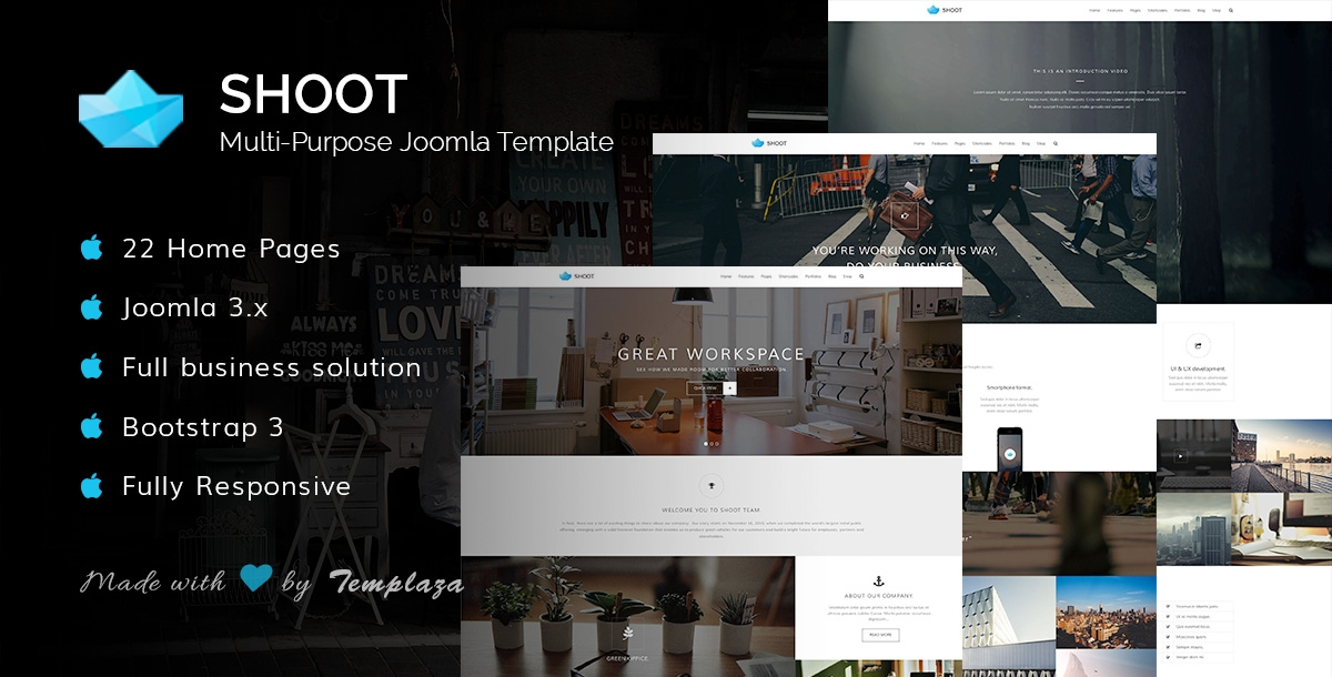 shoot multipurpose joomla template 672 h XL