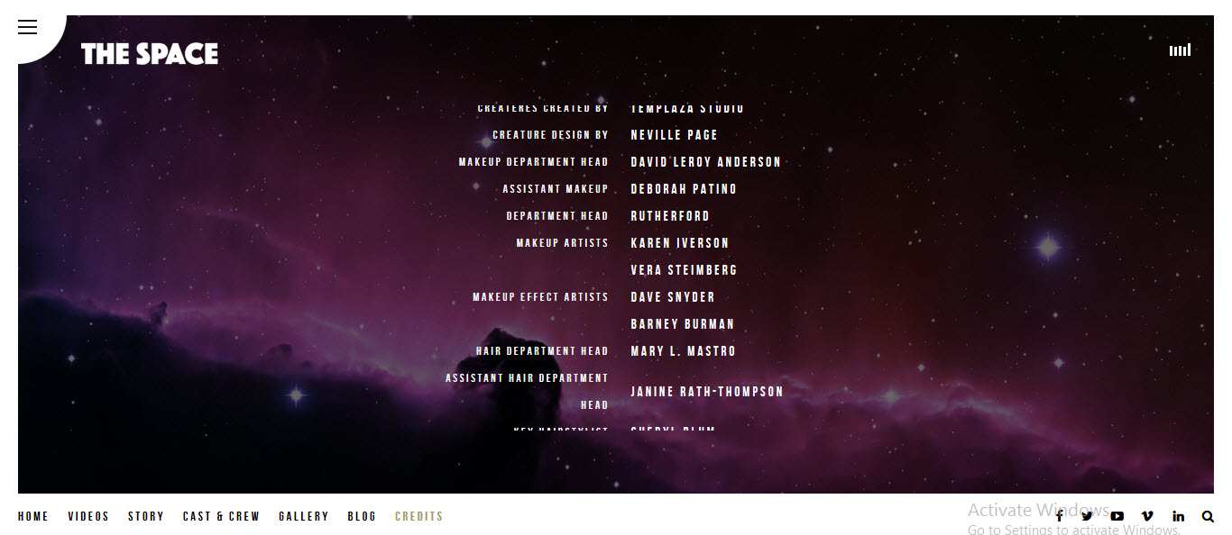credits pages