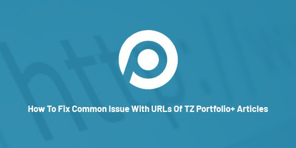How-to-fix-common-Issue-with-URLs-of-TZ-Portfolio-articles