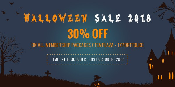 [Halloween 2018] 1 day left to get 30% discount