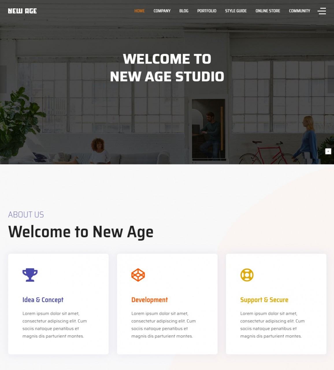 New Age - Homepage