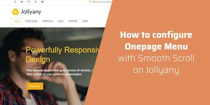 How to configure Onepage Menu with Smooth Scroll on Jollyany