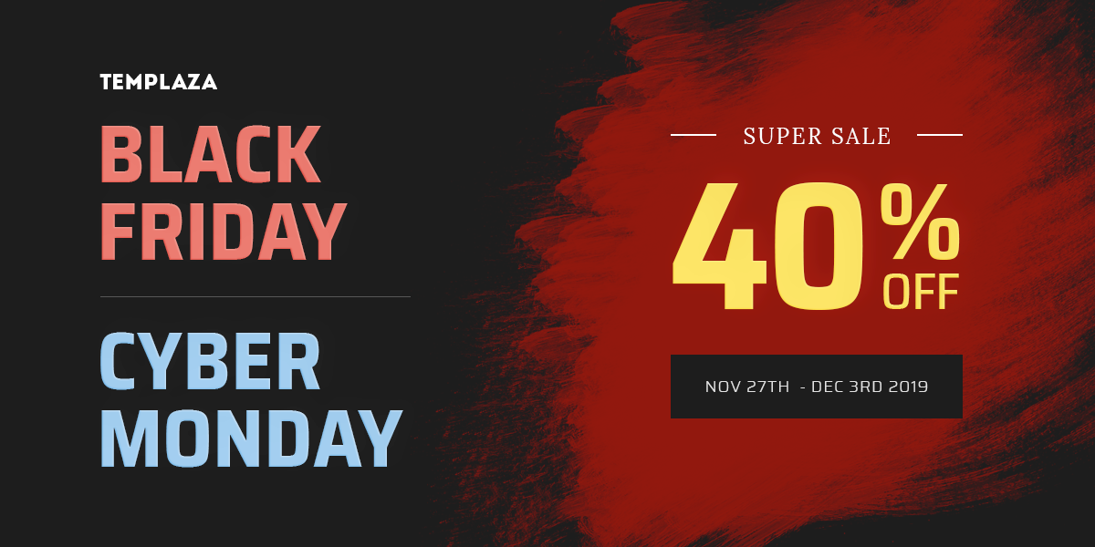 [Super Deal] Kick off Black Friday & Cyber Monday sale - 40% OFF