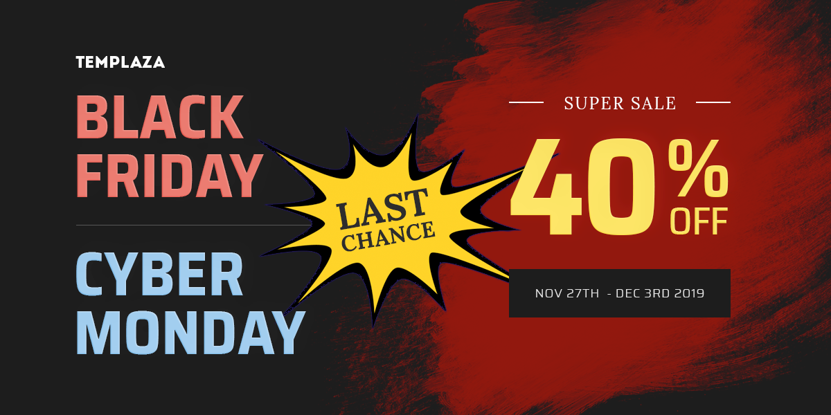 [Last Chance] 1 Day Left to Save 40% on Cyber Monday