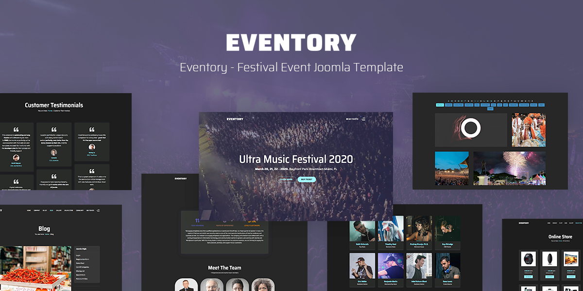 [New release] Introduce Eventory - Festival Event Joomla Template