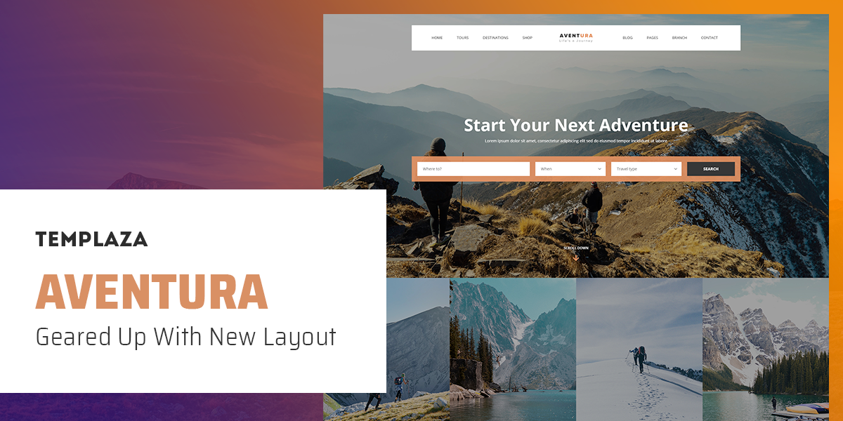 UPDATE: AVENTURA V1.9 GEARED UP WITH NEW LAYOUT