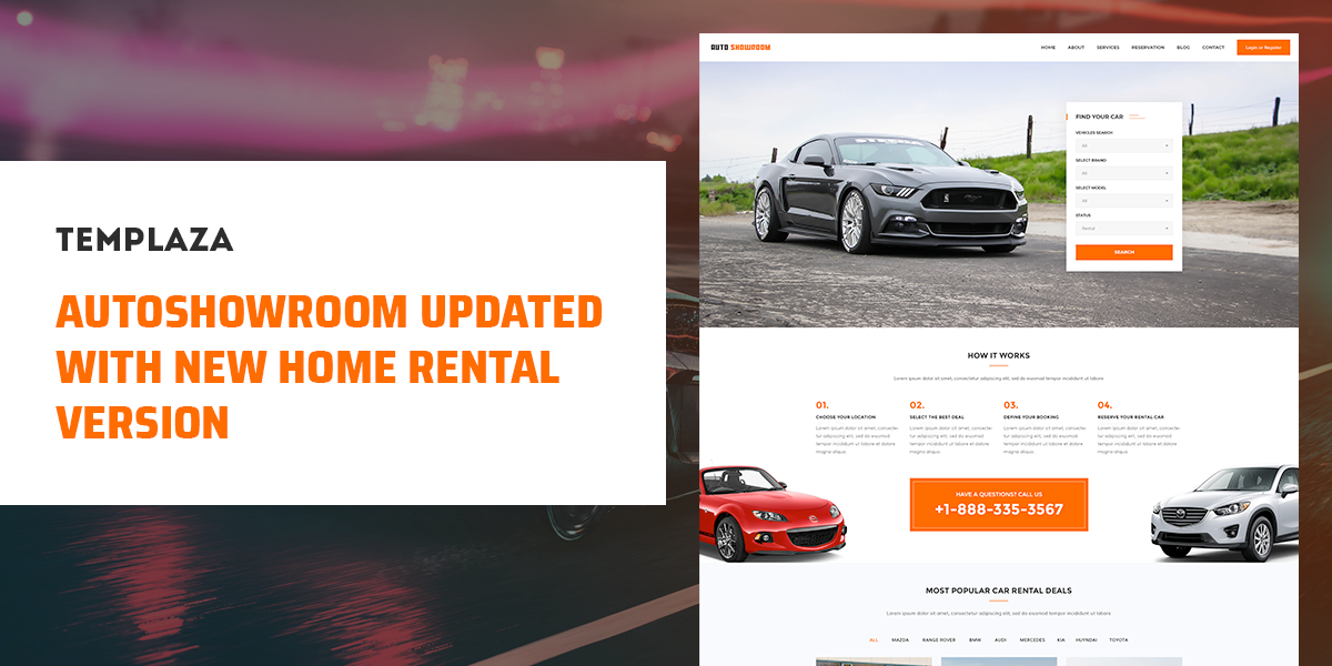 Autoshowroom Updated With New Home Rental Layout