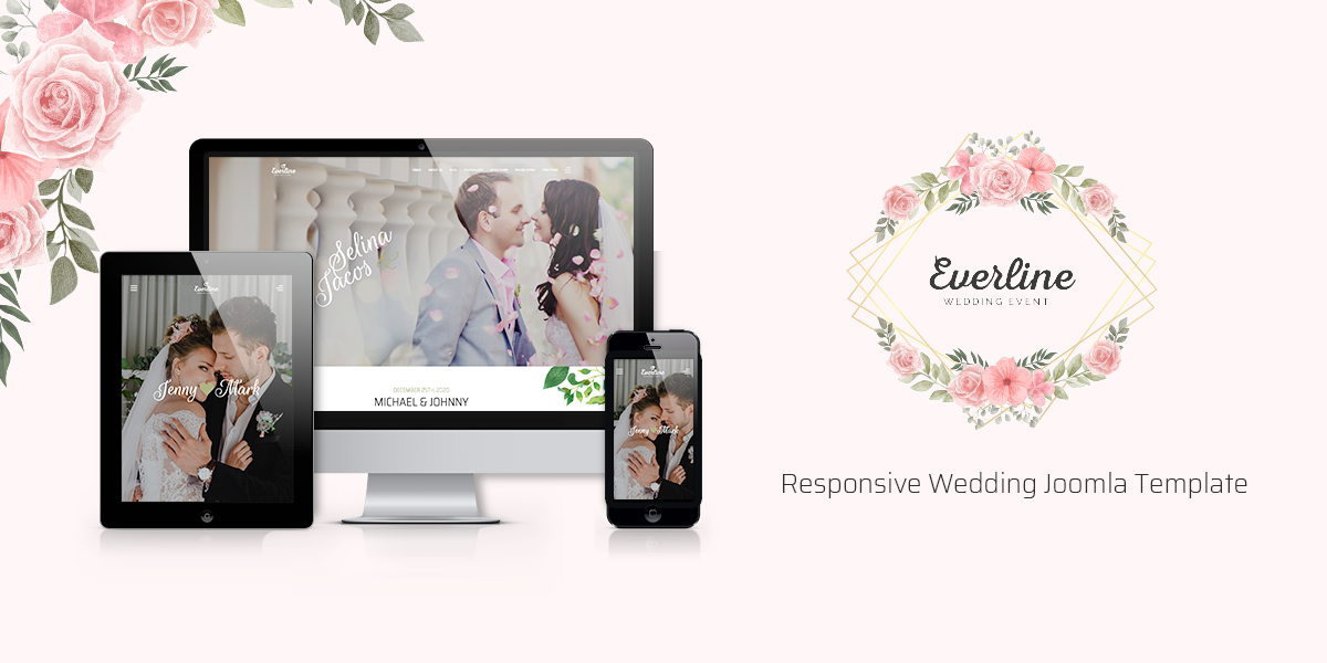 Introducing Everline - beautiful and responsive wedding Joomla template