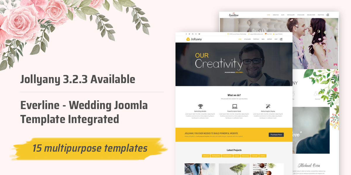 [Update] Jollyany 3.2.3 available - Everline Wedding Joomla Template integrated