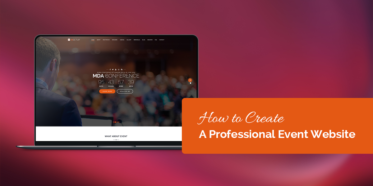 How to Create A Professional Event Website