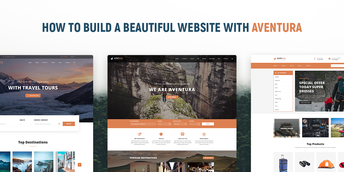 How to Build A Professional Tour Booking Website With Aventura
