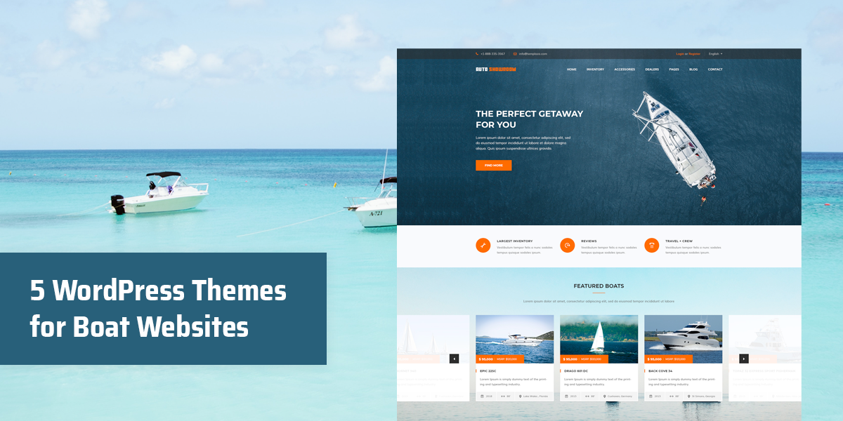 5 Best WordPress Themes For Boat Websites
