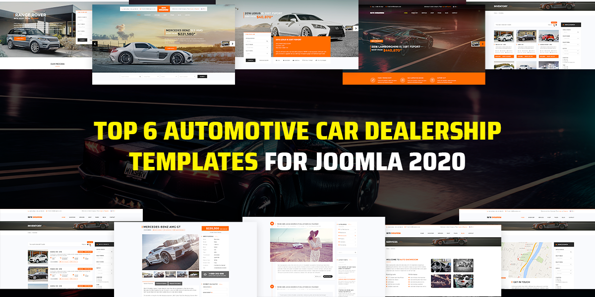 Top 6 Automotive Car Dealership Joomla templates 2020