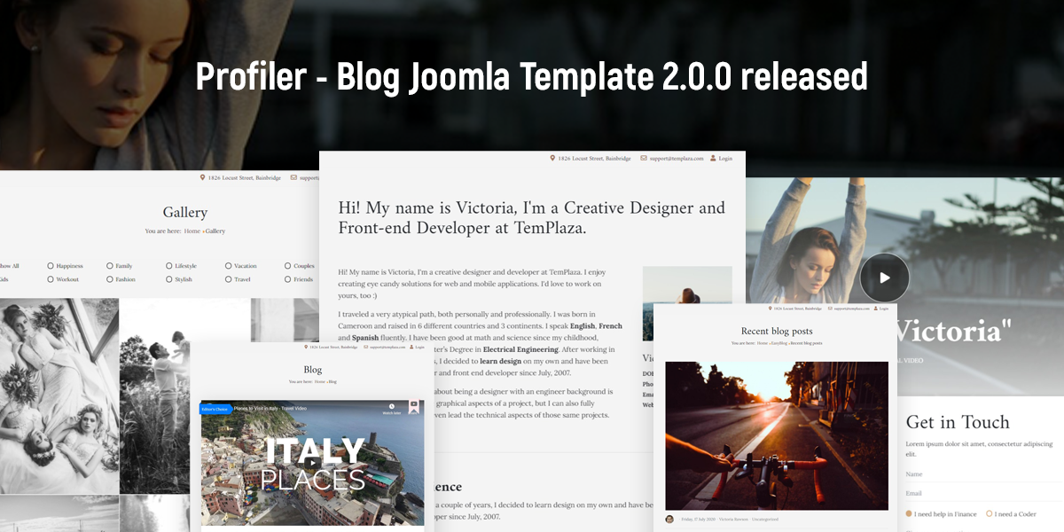 [Update] Profiler - Personal blog, CV, Resume Joomla Template 2.0.0 released
