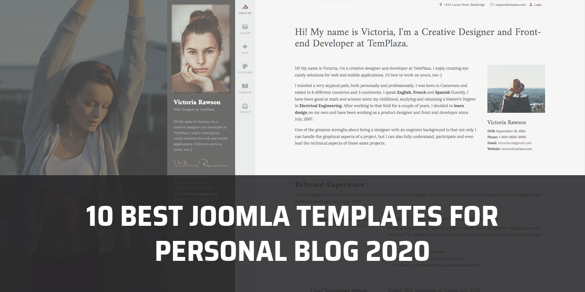 10 Best Joomla templates for personal blog websites 2020