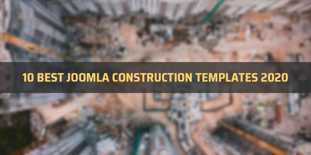 10 Best Joomla Construction Templates 2020