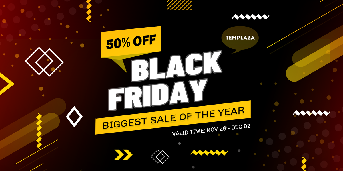 Enjoy the biggest sale of the year - 50% OFF on Black Friday 2020
