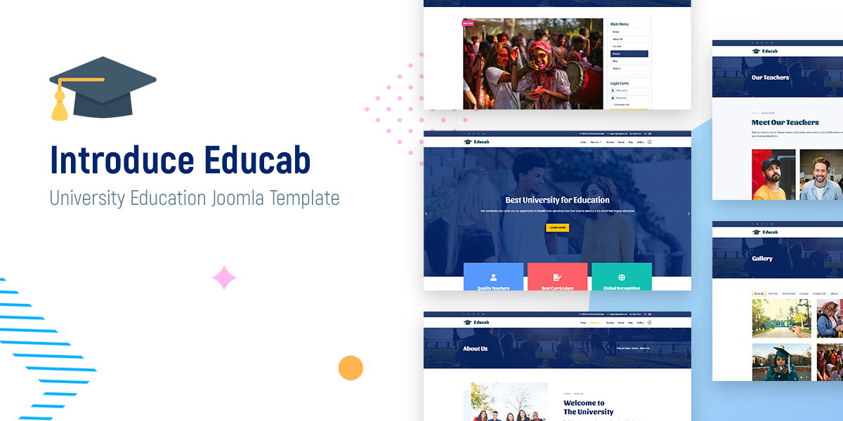 Introduce Educab - University Education Joomla Template