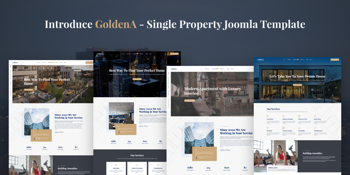 [New release] Introduce Goldena - Single Property Joomla template and Jollyany 3.3.2