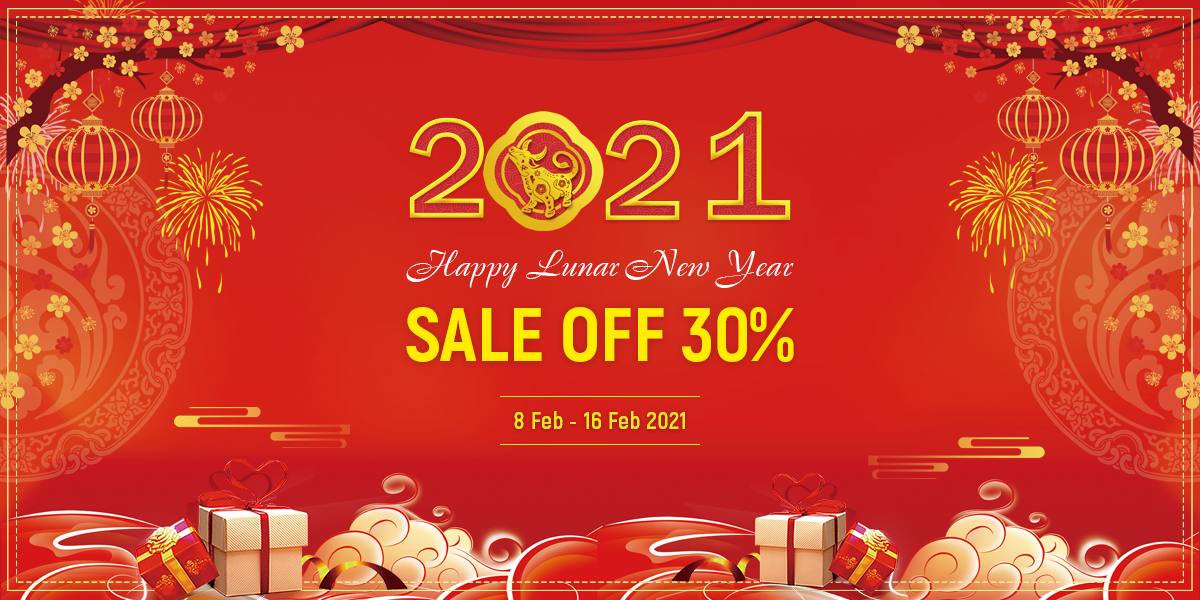Lunar New Year 2021 Sale 30% OFF On Premium Products