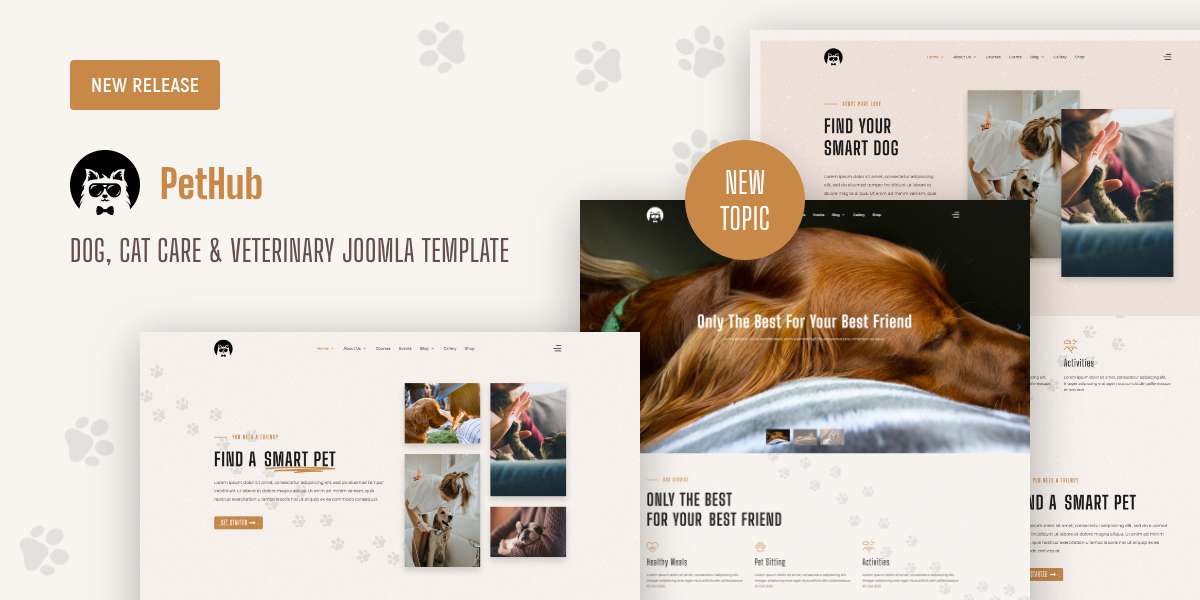 [New] Introduce PetHub - Dog, Cat Care & Veterinary Joomla Template