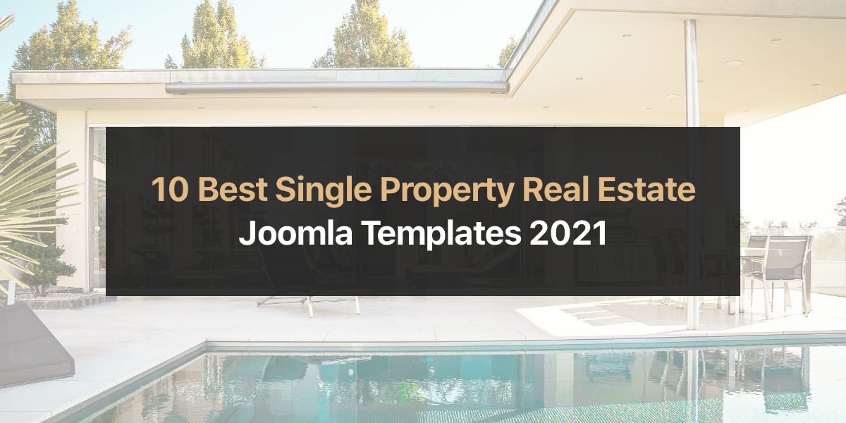 10 Best Single Property, Real Estate Joomla Templates 2021