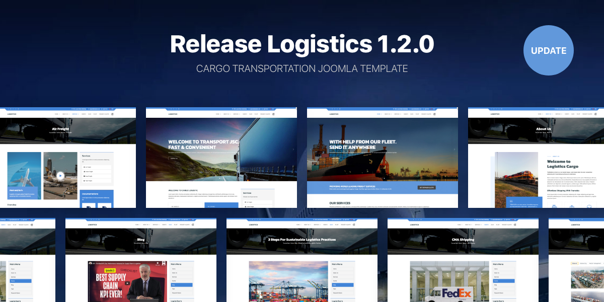 [Update] Release Logistics 1.2.0 - Cargo Transportation Joomla template
