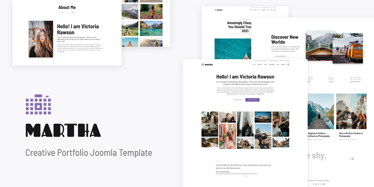 [New] Introduce Martha - Creative Portfolio Joomla template