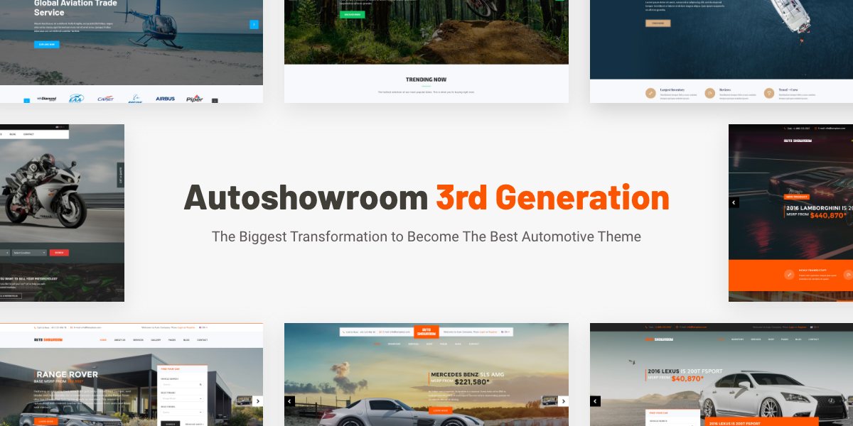AutoShowroom 3rd Generation - The Biggest Transformation To Become The Best Automotive Theme