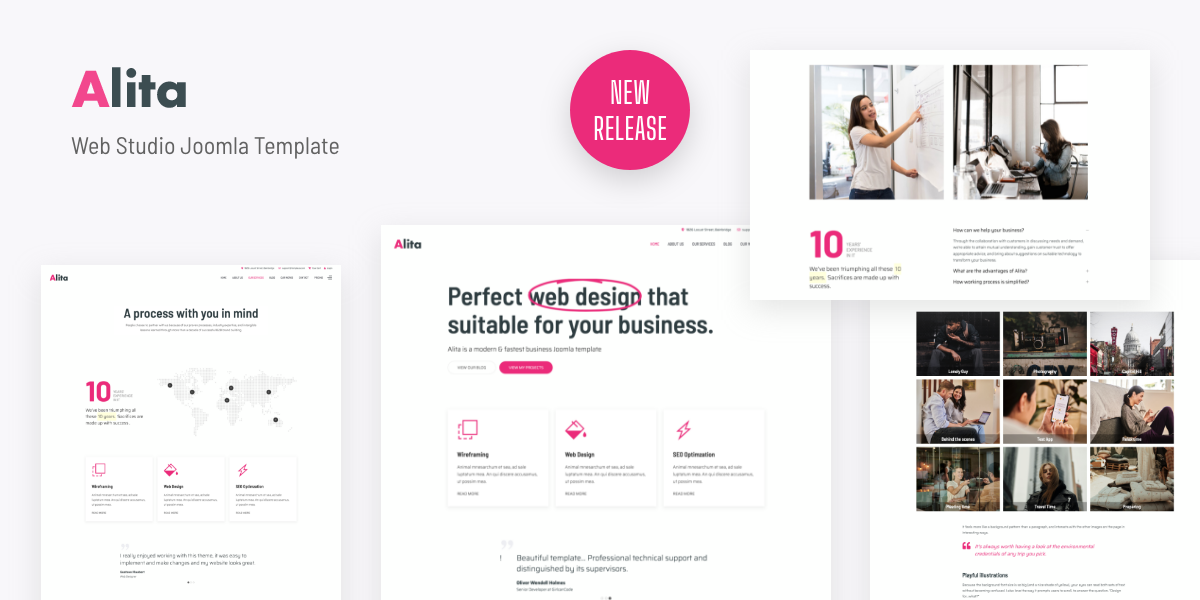 [New Release] Introduce Alita - Web Studio Joomla Template