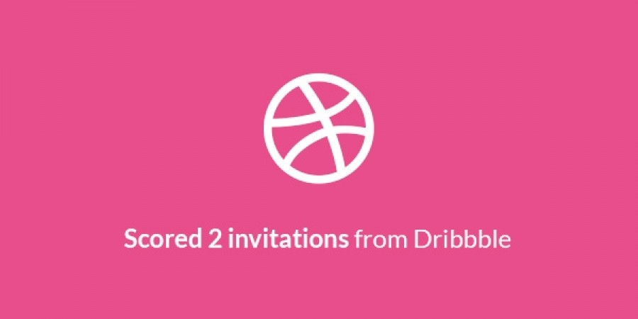 Scored 2 new invitations from Dribbble