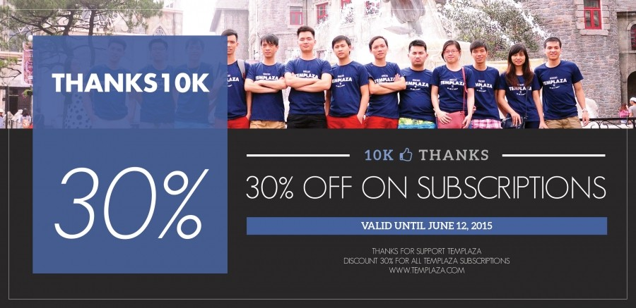 10K Likes Thanks! Get 30% Off On All Subscriptions