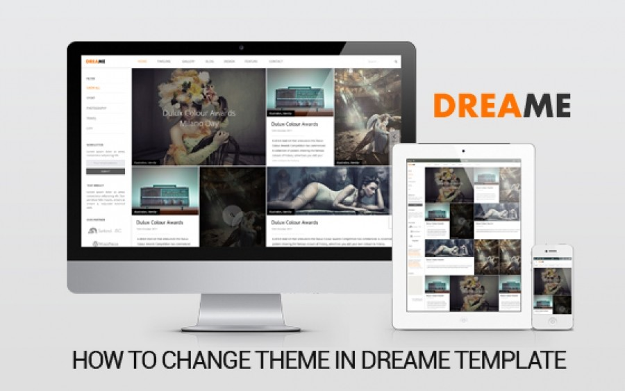 How To Change Theme in Dreame Template