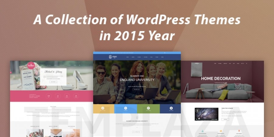 A Collection of WordPress Themes in 2015 Year