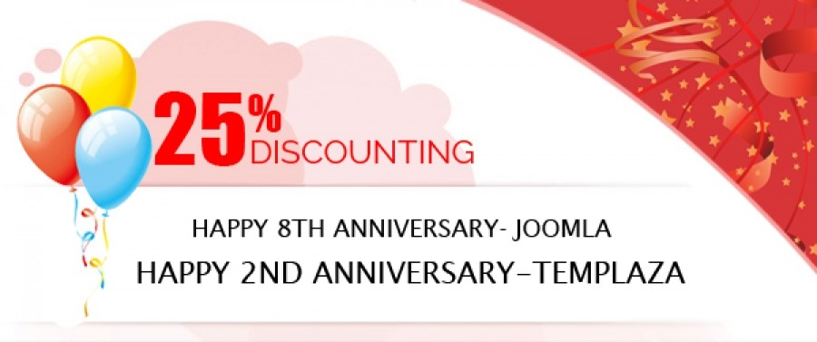 Discounting 25% For All TemplazaJoomla Memberships From Sept 18th, 2013 to Sept 22nd, 2013