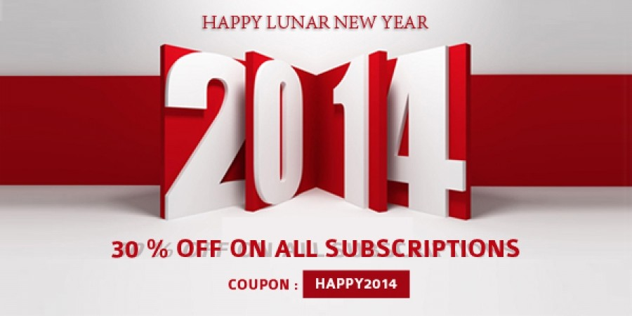 Discounting 30% For All Templaza Subscriptions From January 27th, 2014 to February 6th, 2014