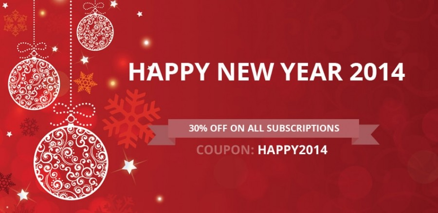 Discounting 30% For All TemplazaJoomla and WordPress Memberships From January 1st, 2014 to January 7th, 2014