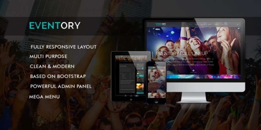 EVENTORY - The December Responsive Template in Preview