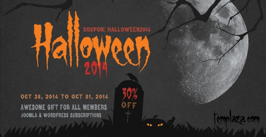 Halloween 2014: Save 30% off on All Subscriptions