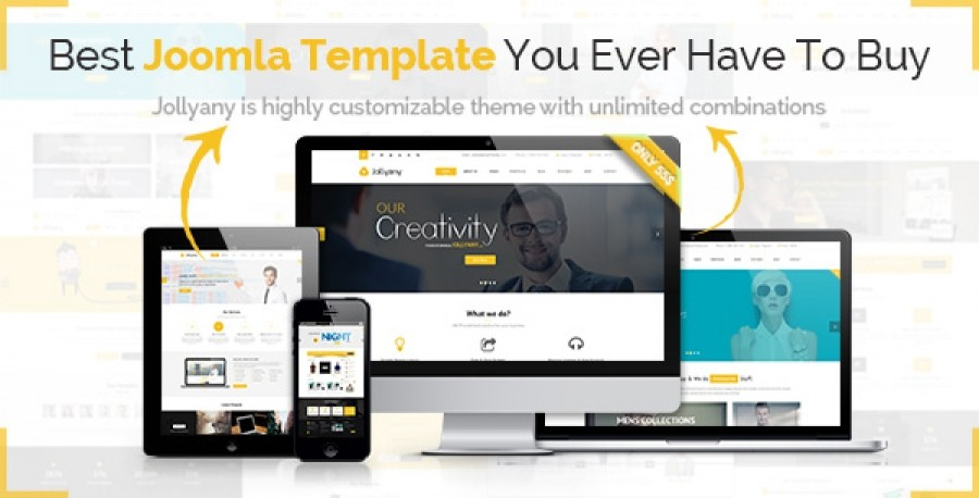 Jollyany - Responsive Joomla Template in Preview