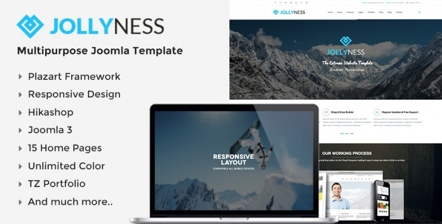 Jollyness Template - January Responsive Joomla Template in Preview